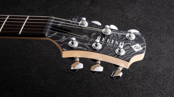 レリッシュ・ギター ヘッド relish guitars black white burl ash shady mary one head #003