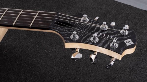 レリッシュ・ギター ヘッド relish guitars black white burl ash snow mary one head #004