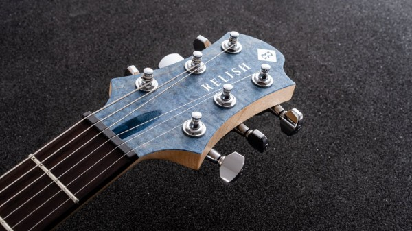 レリッシュ・ギター ヘッド relish guitars blue stain curly maple mary one head #008