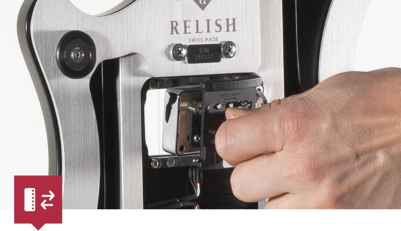 relish guitars レリッシュ・ギター ピックアップ交換