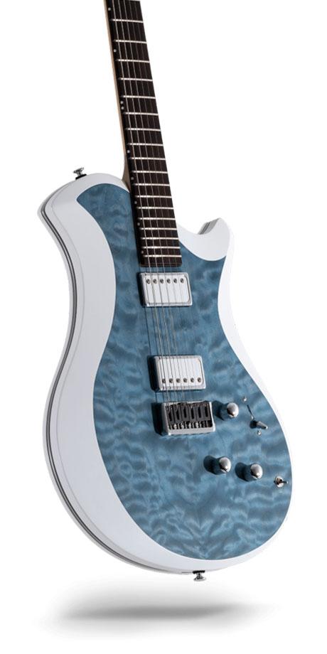 レリッシュ・ギター relish guitars blue stain quilted maple mary one #016